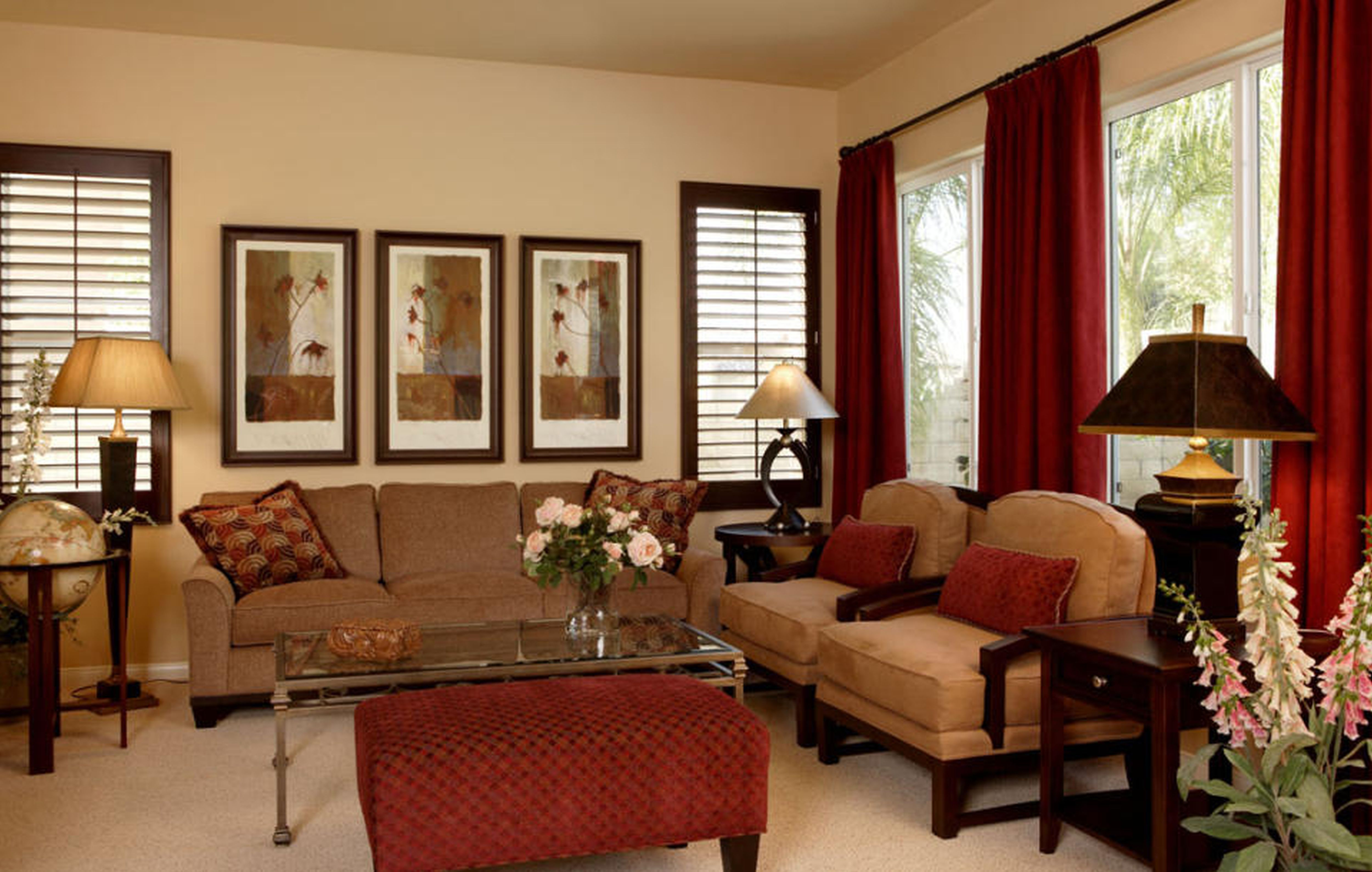 Red Living Room Ideas to Decorate Modern Living Room Sets ... on Living Room Design Ideas  id=54069