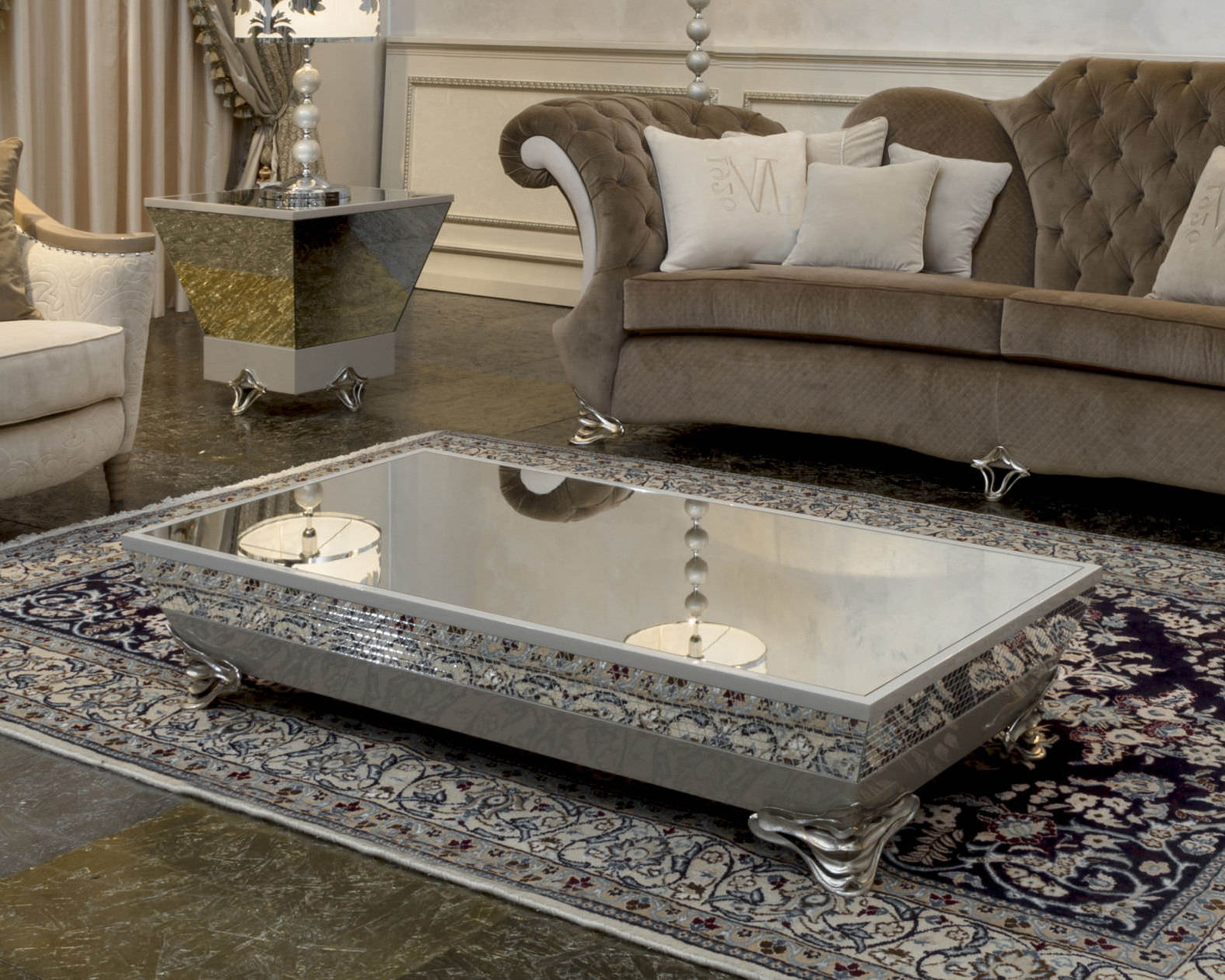 Rectangular Ottoman Coffee Table