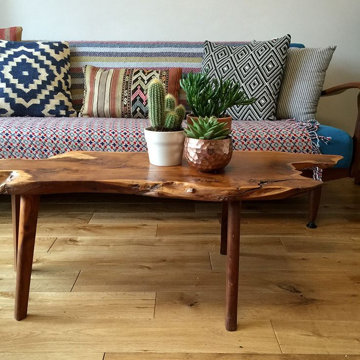 Long Wood Coffee Table