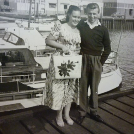 With my wife, Rene 1956.