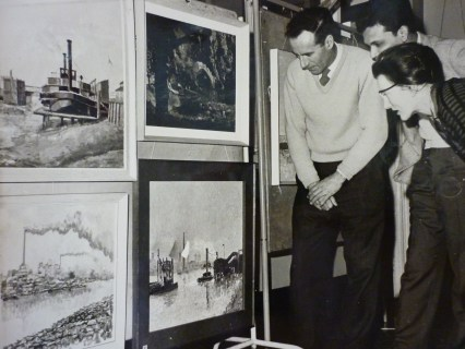 Exhibition , Poplar, East London 1959