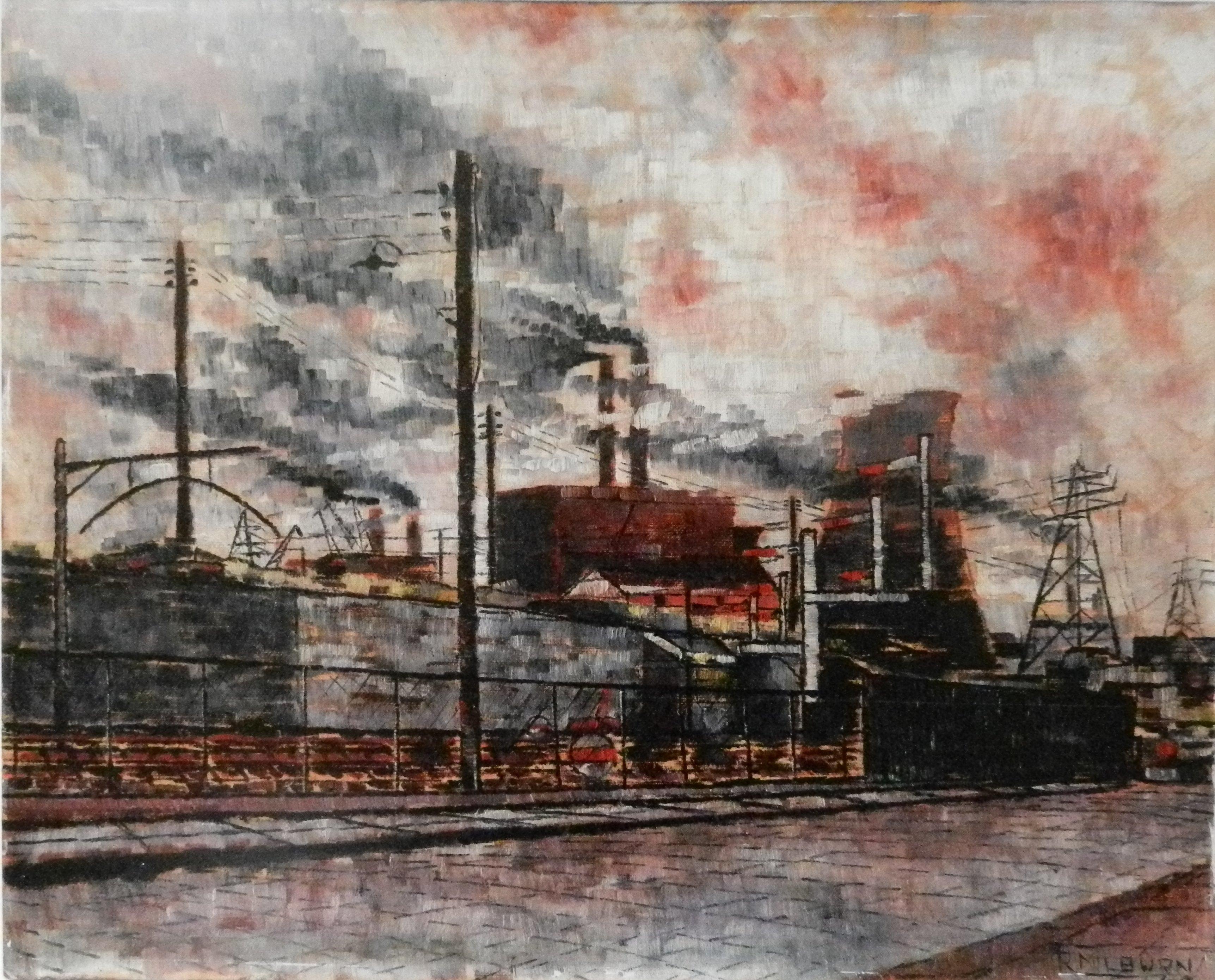 Poplar Power Station, Oil painting, leven road, E13, london,