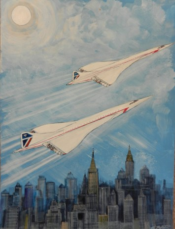 Last flight of Concorde. Mixed media.