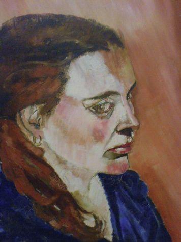oil painting, portrait,