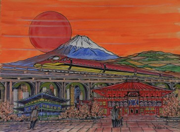 japan, mount fuji, bullet train,chashitsu