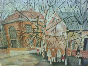 East End of London. Oil.