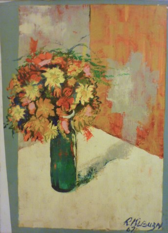 Flower Study. Oil. still life, expressionist,
