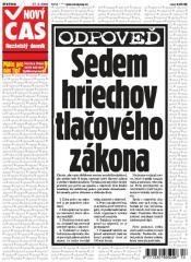 Titulní strana Nového času 27. 3. 2008