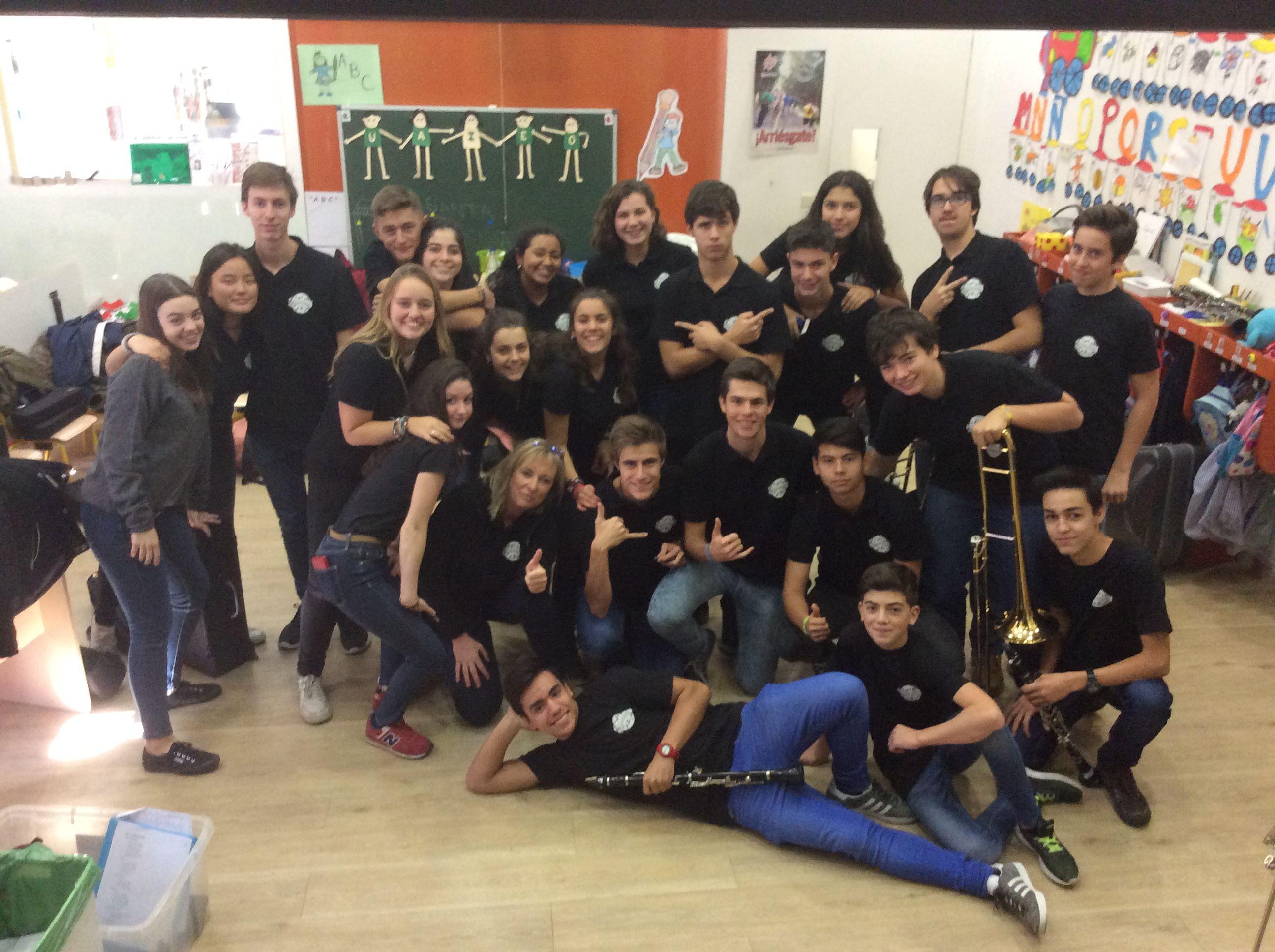Celebrando Santa Cecilia con la classband.