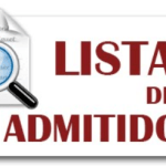 Listados Alumnos Admitidos – Curso 2021/2022
