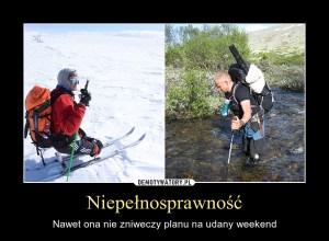 Plany na weekend a niepełnośprawność