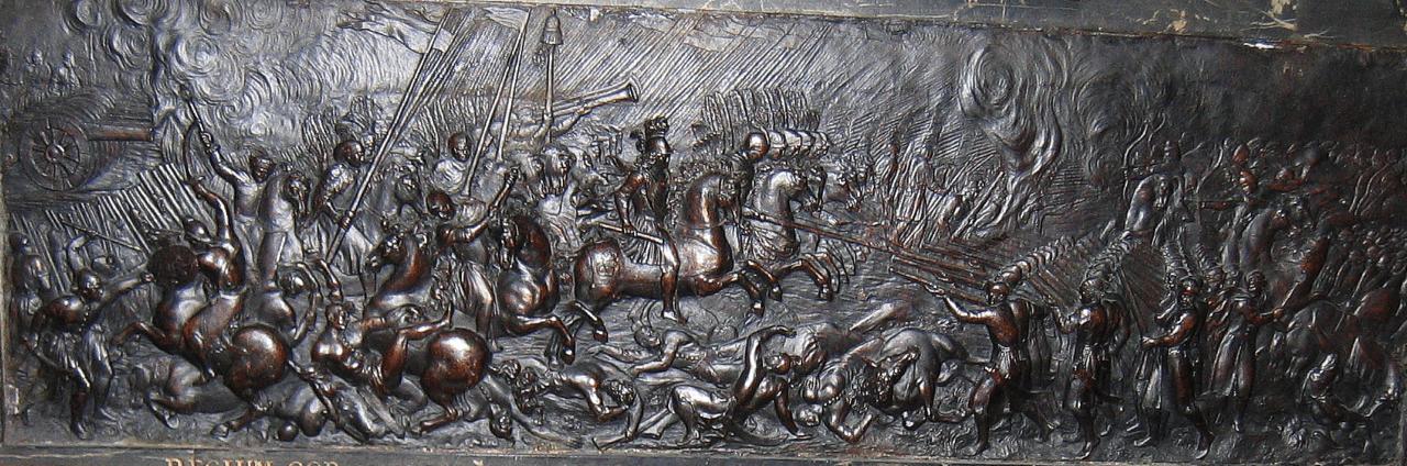 Bitwa pod Beresteczkiem, płaskorzeźba z nagrobka serca Jana II Kazimierza w kościele Saint-Germain-des-Prés w Paryżu