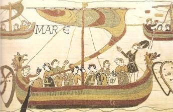 Wikińska łódź przedstawiona na Tkaninie z Bayeux