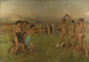 """Edgar Degas, """"Młodzi Spartanie"""""""