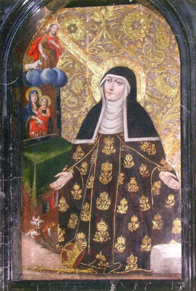 Wizerunek św. Kingi na obrazie w klasztorze klarysek w Starym Sączu.