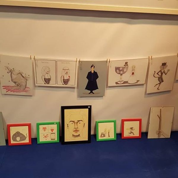 @Thrillustrattion08 at the Art Expo on the RDS