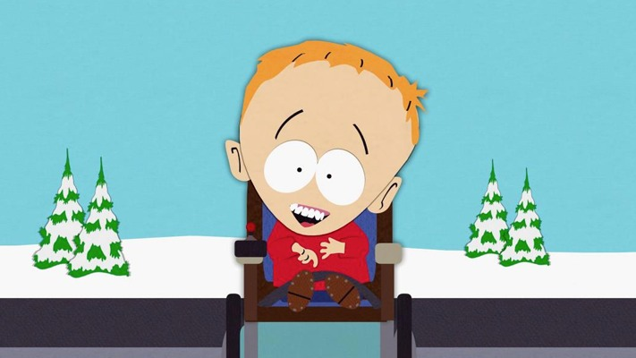 South Park Timmy heroes with limited vocabluaries
