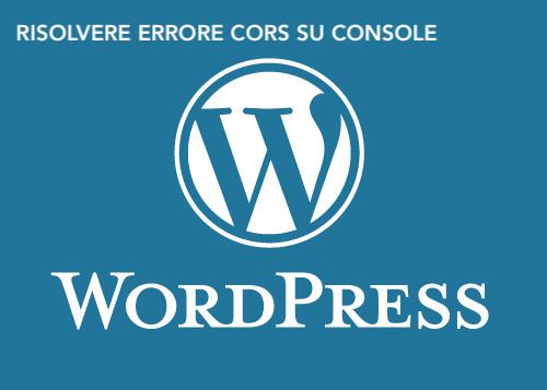 Wordpress Cors