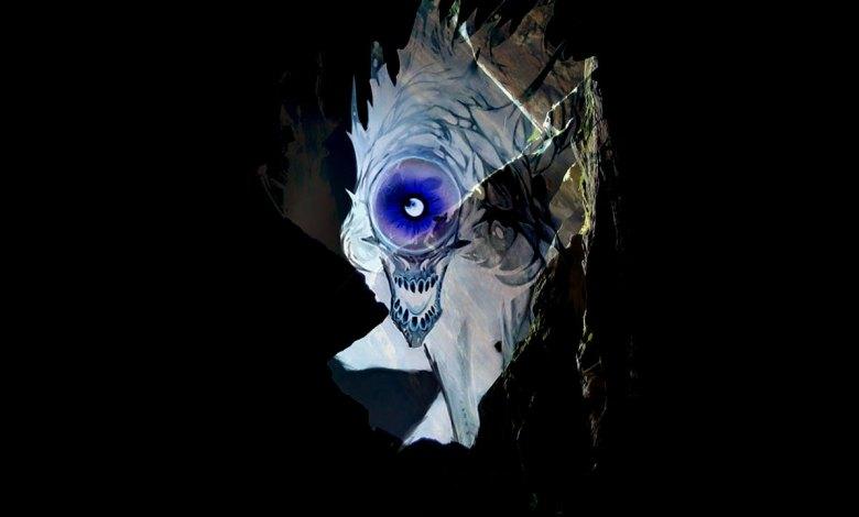 Monstro Nothic escondido na escuridão - Imagem do Tarrasque na Bota 11 - A mina perdida de Phandelver - Episódio 11 - A Fenda Sombria