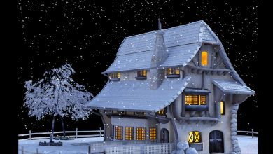 Casebre com neve
