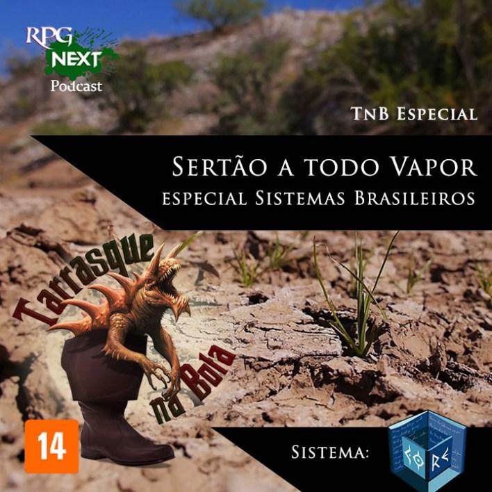 Capa para podcast, aventura Sertão a todo Vapor, uma aventura steampunk no sistema Codex of Reality