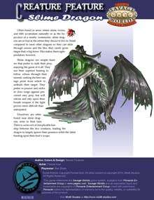 Creature Feature: Slime Dragon for Savage Worlds