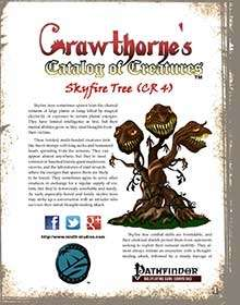 Crawthorne's Catalog of Creatures: Skyfire Tree for the Pathfinder RPG
