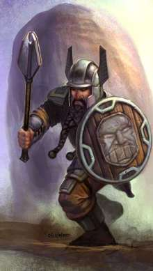 The Art of Eric Lofgren Charging Dwarf