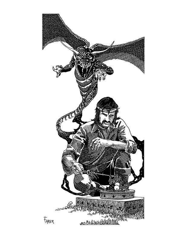 The Art of W Fraser Sandercombe: Conjured Dragon