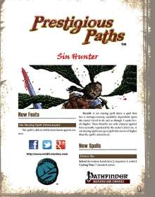 Prestigious Paths: Sin Hunter for the Pathfinder RPG