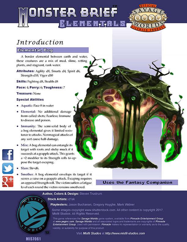 Monster Brief: Elementals