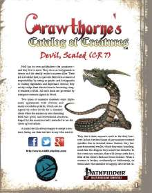 Crawthorne's Catalog of Creatures: Scaled Devil for the Pathfinder RPG