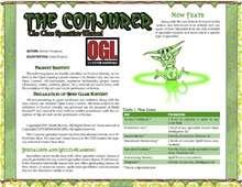 Conjurer Core Specialist Wizard