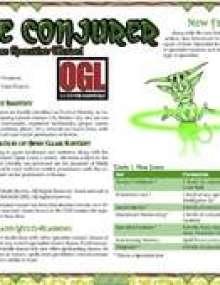d20 fantasy Core Specialist Conjurer