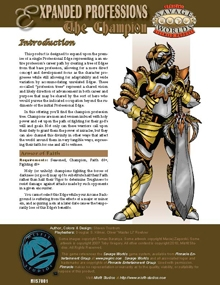 Expanded Professions: the Champion