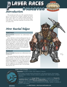 Savage Worlds Player Races: Dwarves