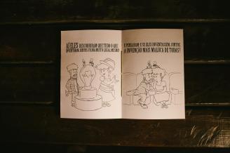 Ilustração feita com grafite, caneta e papel, digitalizada e impressa em casa.