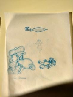 Estudo com lápis Prismacolor Col-Erase em papel vegetal.