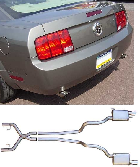 2005 2010 mustang pypes v6 exhaust