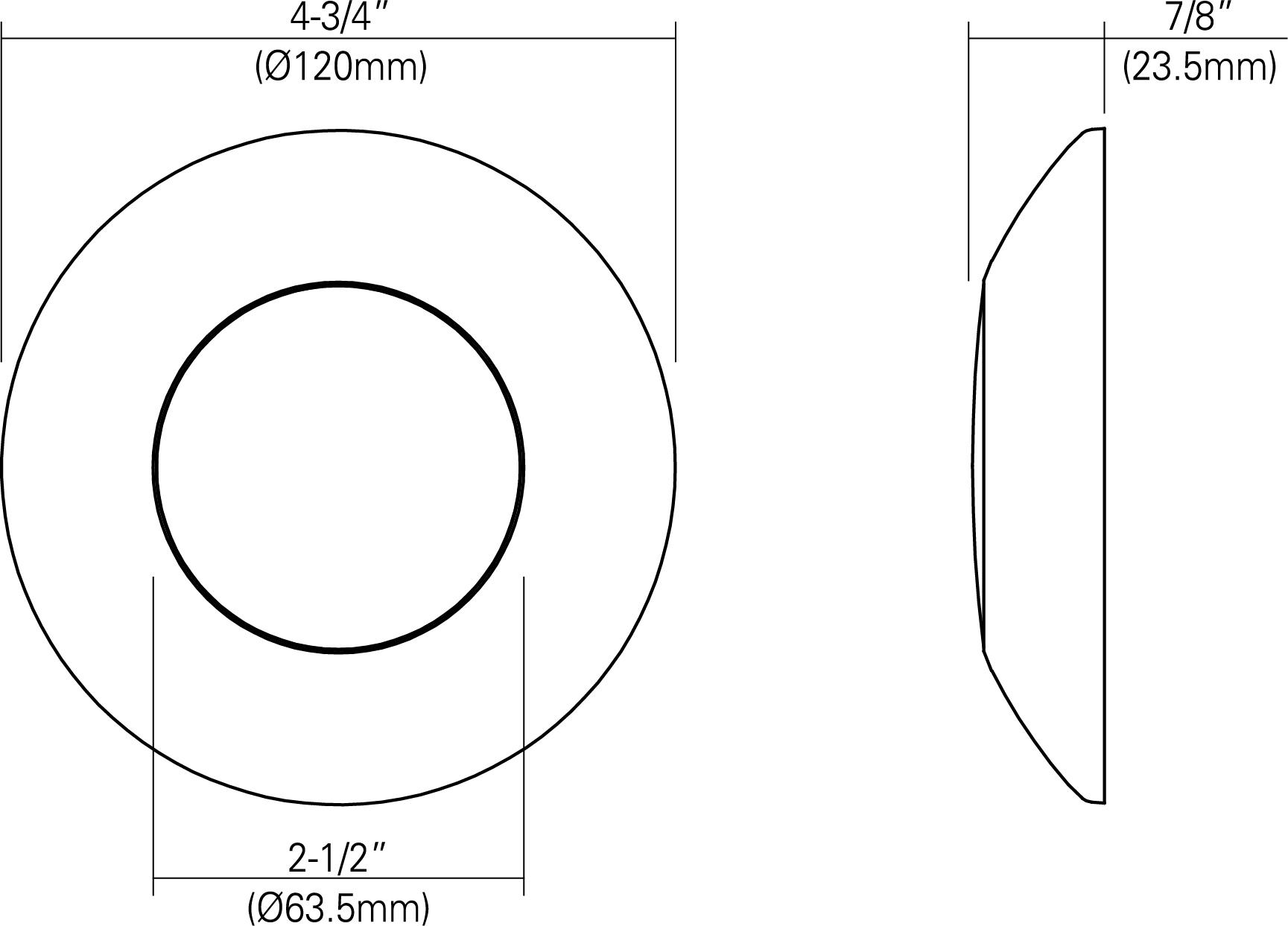 3 Led Low Profile Disk Light