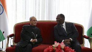 Le président indien et ivoirien
