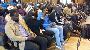 Le public lors du meeting du Dr Oumar Mariko à Paris