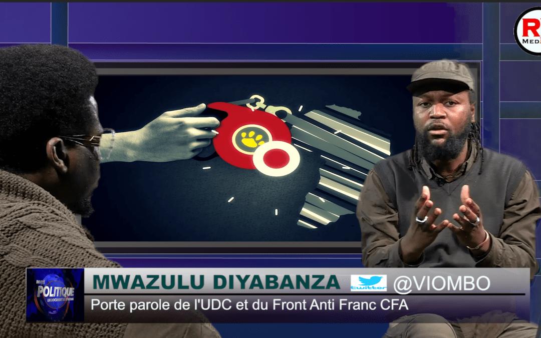 Mwazulu Diyabanza, porte parole du front anti franc CFA