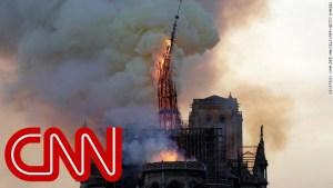 LA chaîne CNN consacre sa soirée à l'incendie de la cathédrale notre dame de Paris