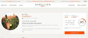 Le projet maraîcher de Kadiatou compte sur les prêteurs de Babyloan Mali