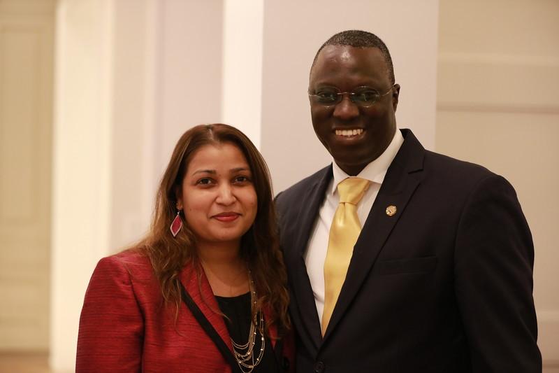 Yeah SAMAKE et son épouse Marissa Continho