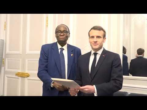 Tiébilé DRAME et Emmanuel MACRON
