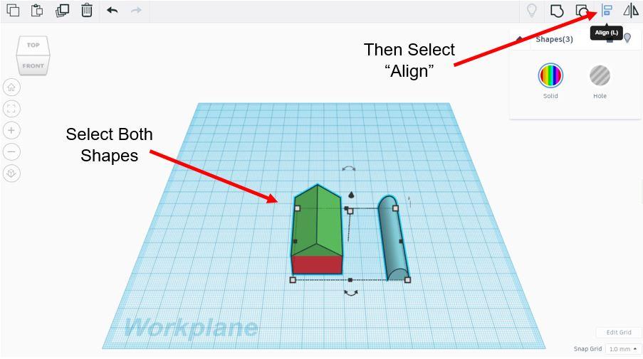 TinkerCAD Tutorial: Align Tool