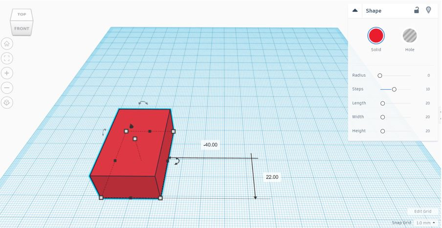 TinkerCAD Tutorial: New Position