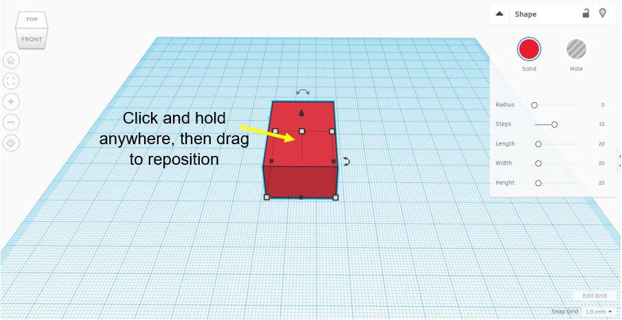 TinkerCAD Tutorial: Original Position